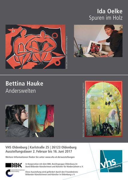 VHS Ausstellung Ida Oelke – Bettina Hauke