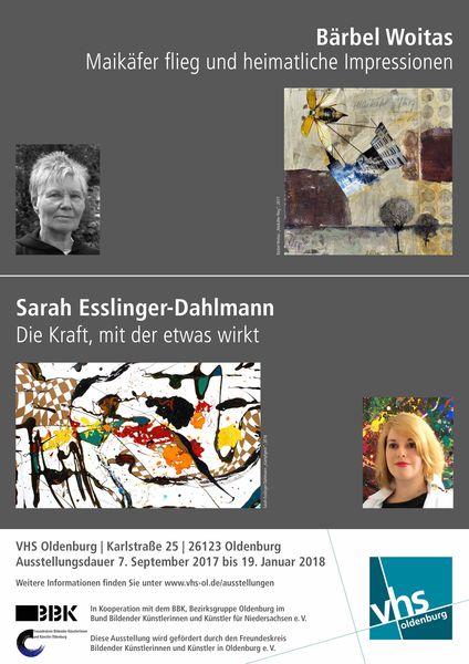 VHS Ausstellung Bärbel Woitas – Sarah Esslinger-Dahlmann