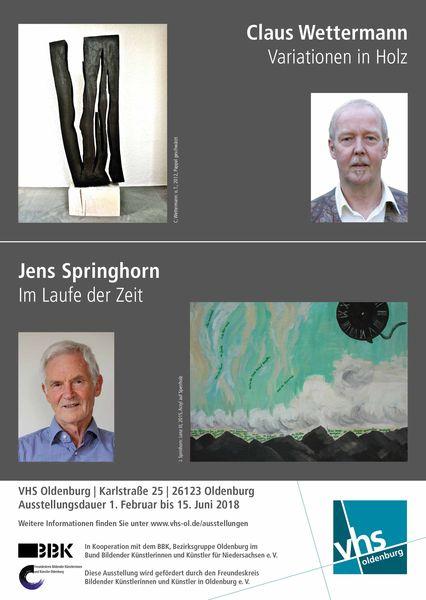 VHS Ausstellung Claus Wettermann – Jens Springhorn