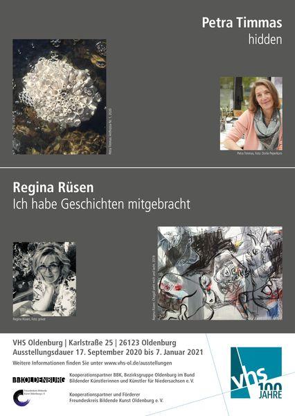 VHS Ausstellung Regina Rüsen und Petra Timmas